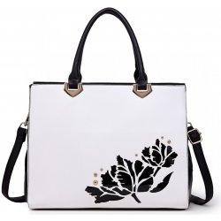 715e7a6e80 Miss Lulu elegantná dámska kabelka do ruky aj cez rameno čiernobiela ...