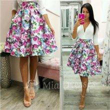 e7229199def9 Dámska kvetinová krátka sukňa