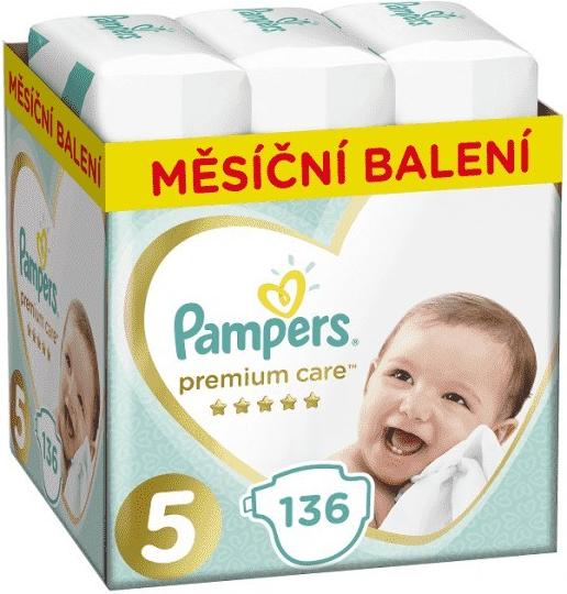 PAMPERS Premium Care 5 JUNIOR 11-16 kg 136 ks