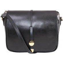 7d95b7a2797d Talianske dámske kožené kabelky stredné čierne Aurelia