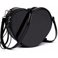 Miss Lulu menšia crossbody dámska kabelka v tvare srdca Čierna ... ea73326491a