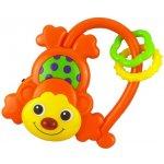 Baby Mix Hračka so zvukom Opička oranžová