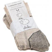 Vlnka Športové ponožky merino 2ks