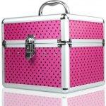 NeoNail Kozmetický kufrík s bodkami Ružová / čierne bodky