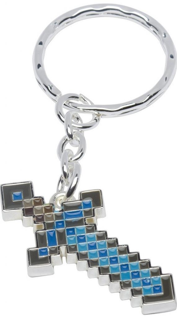 Prívesok na kľúče Kľúčenka Minecraft Metal Keychain Diamond Pickaxe ... e6ac9316b47