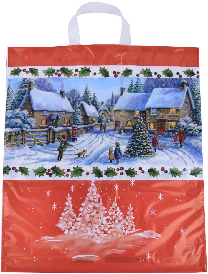 """94430d4bb Darčeková taška Igelitová taška s uchom """"zasnežená krajina"""", 42 x 47 ..."""