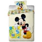 Jerry Fabrics obliečky Mickey Letters bavlna 140x200 70x90