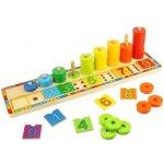 Bigjigs Toys Nasadzovanie čísel