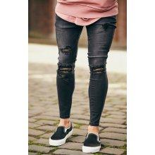 Jeans Siksilk Low Rise Skinny Denim Washed Black