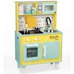 Janod elektronická drevená kuchynka Happy Day 06564 zeleno-žltá