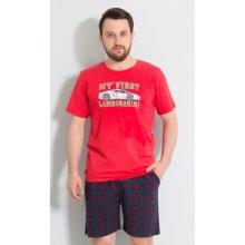 Sporťák pánské pyžamo šortky zelené
