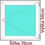 Soft Plastové okno 70x50 cm, otváravé