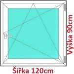 Soft Plastové okno 120x90 cm, otváravé a sklopné