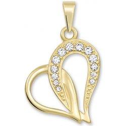 e11be5ccc Brilio Zlatý prívesok srdce s kryštálmi 249 001 00472 alternatívy ...