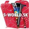 Kožený obal Samsung Galaxy Ace 2 - Diamond Flip červená