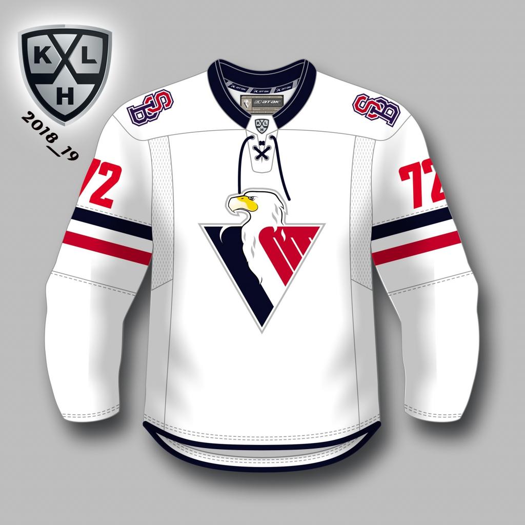 bf43982a0c490 Hokejový dres HC Slovan KHL autentický dres (2018-2019), vonkajší + ...