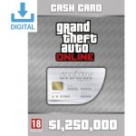 Grand Theft Auto Online: Great White Shark Cash Card - 1,250,000$
