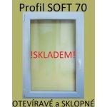 SOFT plastové okno biele 80x100, otváravé a sklopné - profil SOFT 70