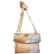 2946096ccdb Art   Craft taška cez rameno stredne hnedá-viacfarebná
