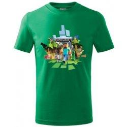 b487595fef80 Tričko dětské MINECRAFT 2 středně zelená od 13