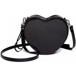Miss Lulu dámska crossbody lakovaná kabelka srdiečko čierna ... 7cb7d94a9b6