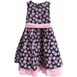f3ad0944d3cc Topo Dievčenské kvetované šaty čierno-ružové alternatívy - Heureka.sk