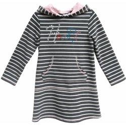 Topo Dievčenské šaty s kapucňou šedé od 19 d466502325