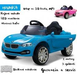 9686a83c5bf7d Joko elektrické autíčko Beta kožené sedadlo MP3 odpružené modrá od ...