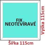 Soft Plastové okno 115x115 cm, FIX neotváravé