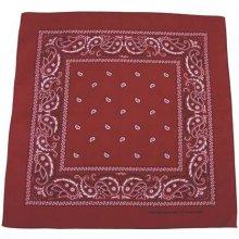 Bandana šátek burgundovo-černý