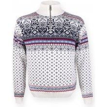 f679395c487a Pánsky sveter Kama 471 s nórskym vzorom prírodne biely