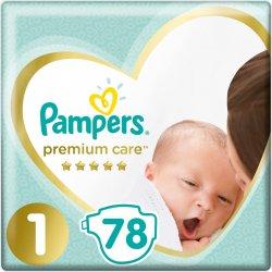 Pampers Premium Care 1 NEWBORN 2-5 kg 78 ks