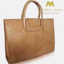Biznis kožená kabelka pre náročných TWR-7 svetlo hnedá béžová ... 5531d2c8bdc