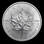 Maple Leaf Strieborná minca Canadian 1 oz 2017