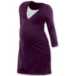 52d3e732bbe5 nočná košeľa pre tehotné a dojčiace matky dlhý rukáv tyrkysová ...