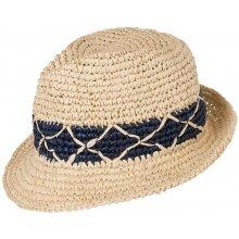 Myrtle Beach Letní pánský klobouk MB6702 Slámová   tmavě modrá 357ee0a2a7