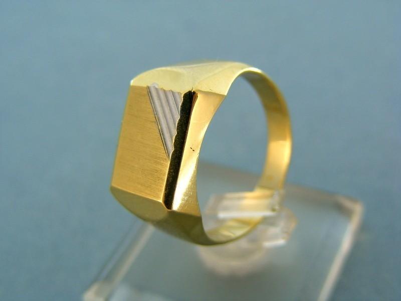 Prsteň Zlatý pánsky prsteň žlté biele zlato jemne zárezy VP60457V ... 3bb8ab4c359