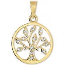 96e85bb67 Brilio Zlatý prívesok Strom života s kryštálmi 249 001 00442