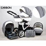 Raf-pol 3-kombinácia White LUX 2017 carbon Autosedačka