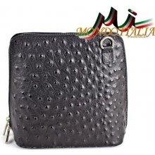 Made In Italy kožená kabelka 603B čierna 5fe19ea0c00