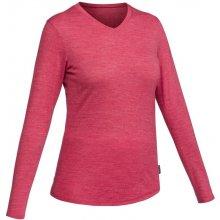 d7154d8fb8a6 FORCLAZ Dámske trekingové tričko Travel500 s dlhým rukávom z merino vlny  ružové