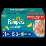 Pampers Active baby 3 midi plienky 150ks
