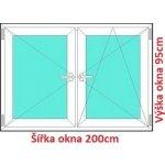 Soft Dvojkrídlové plastové okno 200x95 cm, O+OS