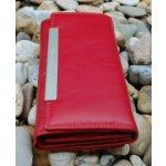 Dámska kožená peňaženka tmavá jemný lesk