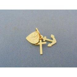 2e0da9e42 Zlatý prívesok srdce kotva kríž žlté zlato VI062Z alternatívy ...
