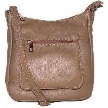 019047f70a talianske kožené kabelky dámske cez rameno stredné taupe Zolana