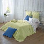 Blancheporte Prikrývka na posteľ lipová pléd 150 cm x 150 cm