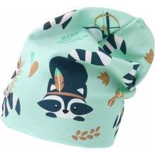 Bexa Chlapčenská čiapka s medvedíkom čistotným Szopek- zelená