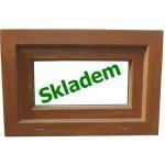 Soft plastové okno 100x40 cm zlatý dub/biela, sklopné