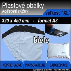 "Plastové obálky veľ. ""XL"" 32x45cm (60my) *100ks"